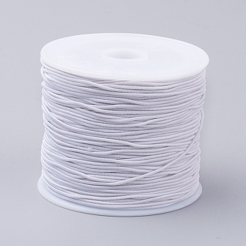 Elastic Cords, White, 0.8mm; 24~26m/roll