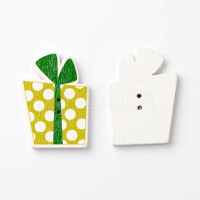 Gift 2-Hole Wooden ButtonsBUTT-D049-08-1
