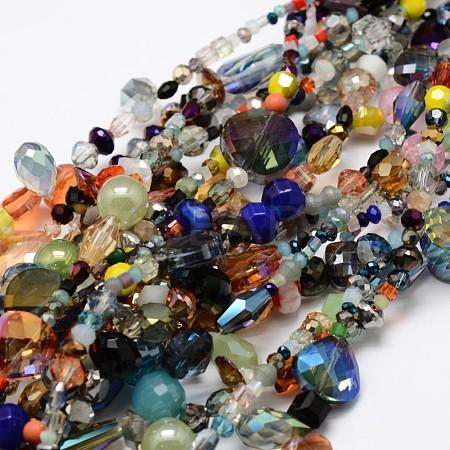 Electroplate Glass Bead StrandsX-EGLA-L007-K01-1