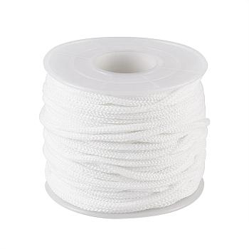 Round Nylon Elastic Band for Mouth Cover Ear Loop, Mouth Cover Elastic Cord, DIY Disposable Mouth Cover Material, with Spool, White, 2mm; about 50m/roll