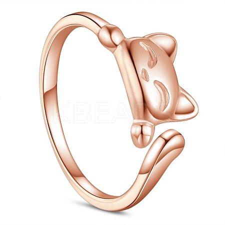 SHEGRACE® 925 Sterling Silver Cuff RingsJR541E-1
