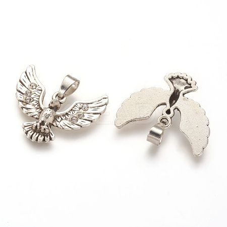 Alloy Rhinestone Pendants PALLOY-P129-17AS-1