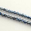 Electroplate Glass Bead StrandsEGLA-R094-4mm-M2-3