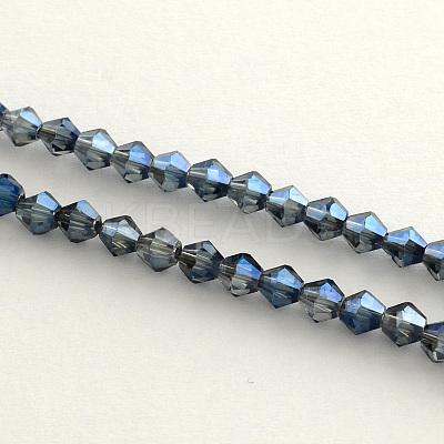 Electroplate Glass Bead StrandsEGLA-R094-4mm-M2-1
