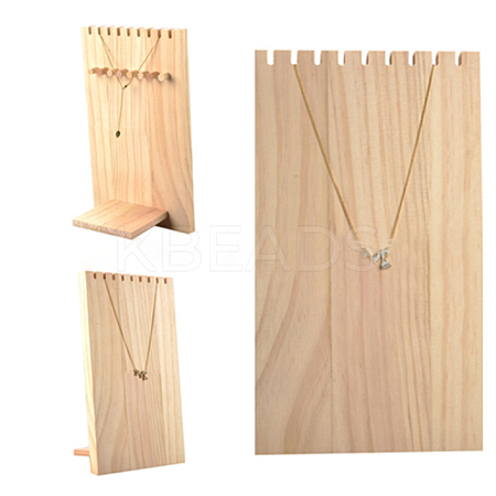 Wooden Necklace Jewelry Necklace HolderBDIS-WH0002-04-1