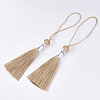 Polyester Tassel Big Pendant Decorations FIND-T055-24-2