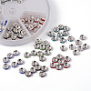 1 Box Mixed Brass Rhinestone Rondelle Spacer Beads RB-MSMC002-13-NF-4