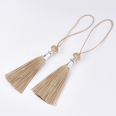 Polyester Tassel Big Pendant Decorations FIND-T055-24-1