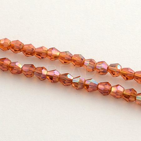 Electroplate Glass Bead StrandsEGLA-R094-4mm-11-1