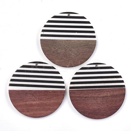 Resin & Wood PendantsX-RESI-T023-24A-1
