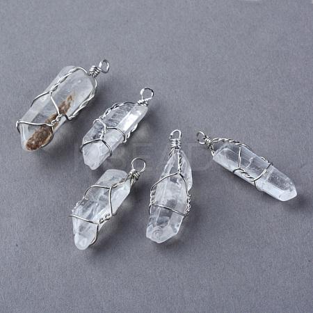 Natural Crystal PendantsG-Q458-33-1
