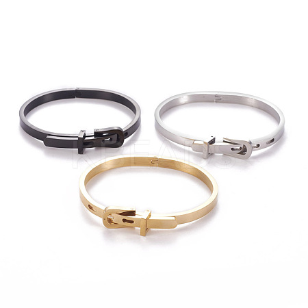 304 Stainless Steel BanglesBJEW-F392-01-1
