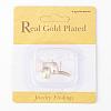 Brass Stud Earring FindingsX-KK-T020-123G-3