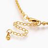 Brass Ball Chain Necklace MakingsX-KK-F763-06G-3