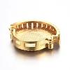Brass Micro Pave Cubic Zirconia Slide CharmsZIRC-E157-02A-G-2
