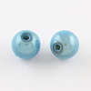 Spray Painted Miracle Acrylic Round Beads MACR-Q154-20mm-006-2