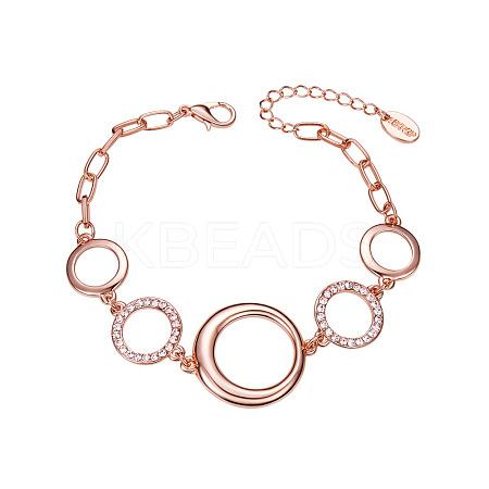 SHEGRACE® Tin Alloy Chain BraceletsJB99A-1