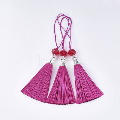Polyester Tassel Big Pendant Decorations FIND-T055-17-1