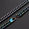 Men's 304 Stainless Steel Cuban Link Chain NecklacesNJEW-T012-01B-51-Q-1
