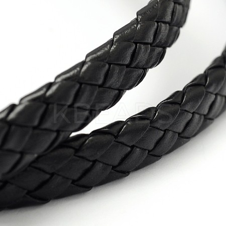 Braided Imitation Leather CordSRIB-D052-B-01-1