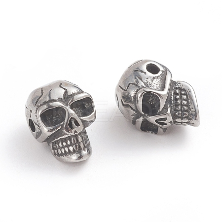 Halloween 316 Stainless Steel Beads X-STAS-F237-02AS-1