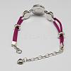 Faux Suede Snap Bracelet MakingsX-BJEW-R175-07-2