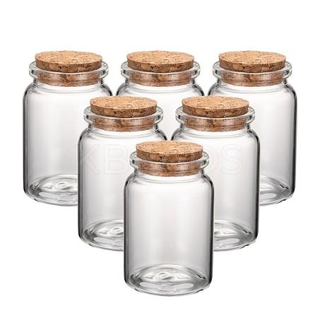 Glass Jar Glass Bottles Bead ContainersAJEW-S074-03B-1