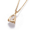 Brass Chain Pendants Necklaces NJEW-JN02383-02-3