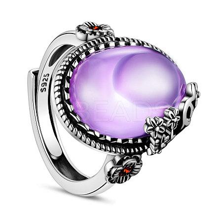 SHEGRACE® Adjustable 925 Sterling Silver Finger RingJR376C-1