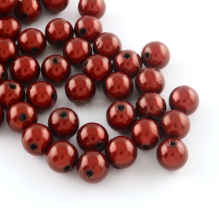 Spray Painted Miracle Acrylic Round BeadsMACR-Q154-20mm-004-1