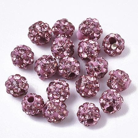 Pave Disco Ball Beads RB-T017-01-09-1
