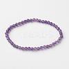 Natural Amethyst Round Bead Stretch BraceletsBJEW-L593-B08-1