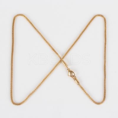 304 Stainless Steel Lantern Chain Necklace MakingsSTAS-P045-08-1
