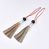 Polyester Tassel Big Pendant Decorations FIND-T055-26-2