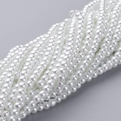 Glass Pearl Beads StrandsHY-4D-B01-1