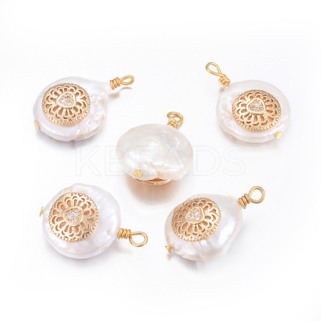 Natural Pearl Pendants PEAR-L027-52A-1