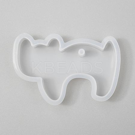 Halloween DIY Cat Shape Pendant Silicone MoldsX-DIY-P006-46-1