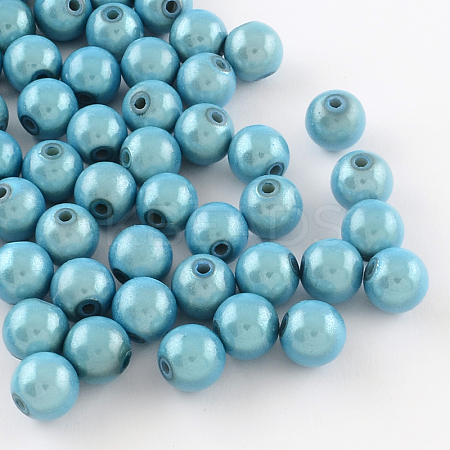 Spray Painted Miracle Acrylic Round Beads MACR-Q154-20mm-006-1